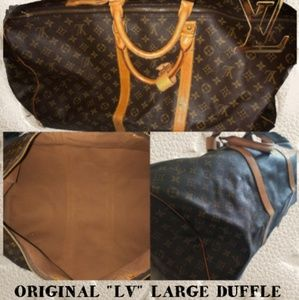 LOUIS VUITTON LARGE DUFFLE BAG